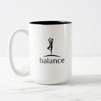 Vrksasana Balance Yoga Two-Tone Coffee Mug