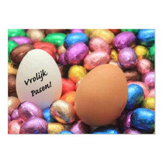 Vrolijk Pasen Chocolate easter eggs Card