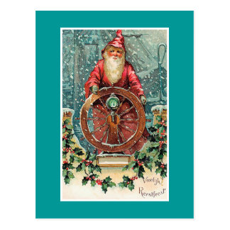 Vroolijk Kerstfeest Vintage Dutch Christmas Card Postcard