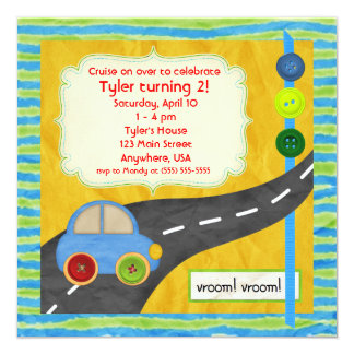 Vroom! Birthday Invitation