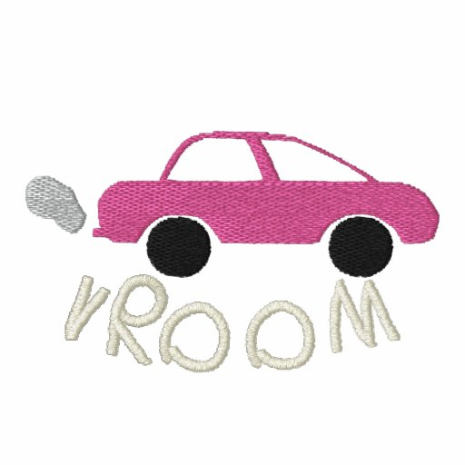 Vroom Embroidered Women T-Shirt