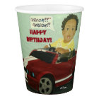 """Vroom, Vroom!"" Happy Birthday Paper Cup, 9 oz Paper Cup"