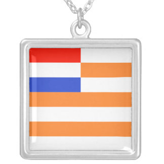 Vrystaat Vlag Silver Plated Necklace