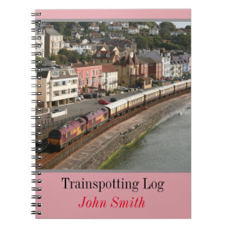 VSOE train - trainspotting log personalised Notebook
