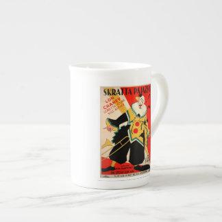 "Vtg Italian Clown Poster Coffee Mug ""Lon Chaney"""