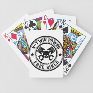 VTWIN POWER FREE BIKER BICYCLE PLAYING CARDS