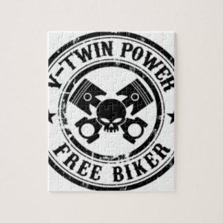 VTWIN POWER FREE BIKER JIGSAW PUZZLE