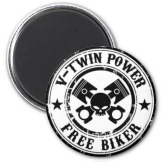 VTWIN POWER FREE BIKER MAGNET
