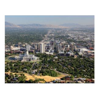 Vue aérienne de Salt Lake City du centre, Utah Carte Postale