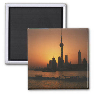 Vue de l'ASIE, Chine, Changhaï de la perle orienta Magnet Carré