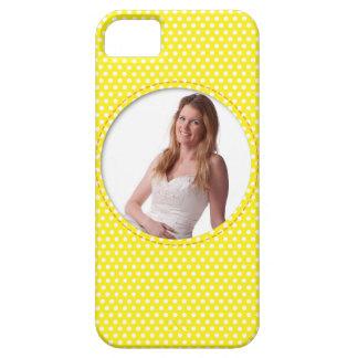 Vue de Polkadot en jaune Coque iPhone 5