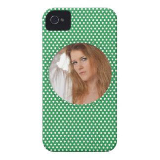 Vue de Polkadot en vert Coque Case-Mate iPhone 4