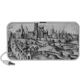 Vue de Prague montrant le palais impérial et Haut-parleur Ordinateur Portable