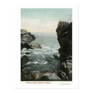 Vue d'île de boulangers, baleines Gulch Carte Postale