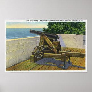 Vue du Boulangerie, militaires français Poster