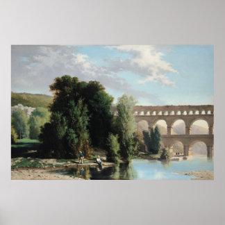 Vue du Pont du le Gard 1859 Posters