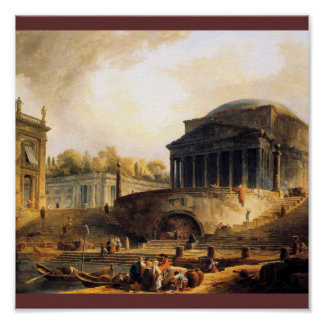 Vue du Port de Ripetta, a Rome Poster