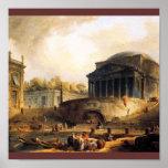Vue du Port De Ripetta, Rome Poster