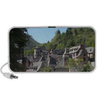 Vue du village médiéval (photo) haut-parleur notebook
