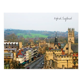 Vue fantastique, Oxford, Angleterre, grand-rue #1 Carte Postale