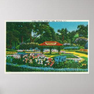 Vue florale d'emblème de parc de Humboldt Affiches