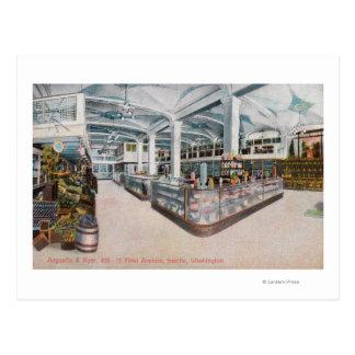 Vue intérieure de boulangerie d'Augustine et de Cartes Postales