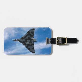 Vulcan bomber in flight luggage tag