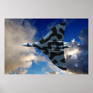 Vulcan bomber in flight poster