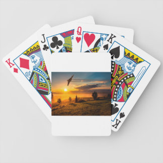 Vulcan Bomber Misty Dawn Bicycle Playing Cards