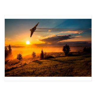 Vulcan Bomber Misty Dawn Postcard