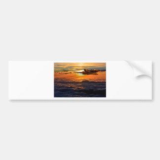 Vulcan bomber sunset sortie bumper sticker