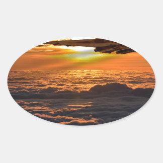 Vulcan bomber sunset sortie oval sticker