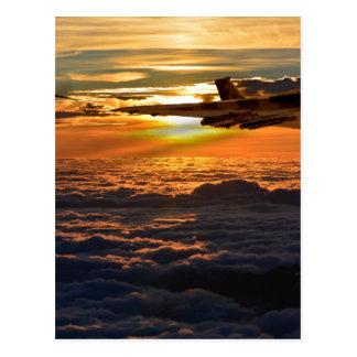 Vulcan bomber sunset sortie postcard