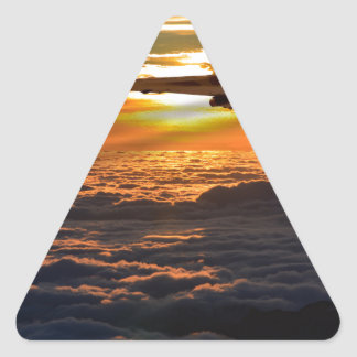Vulcan bomber sunset sortie triangle sticker