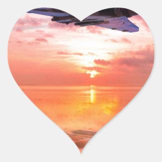 Vulcan Dawn Heart Sticker