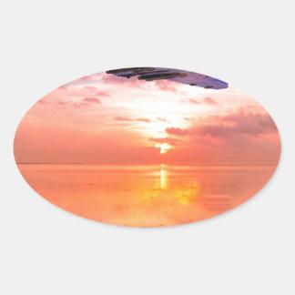Vulcan Dawn Oval Sticker