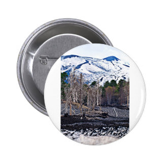 Vulcan Etna on the Isle OF Sicily 2 Inch Round Button