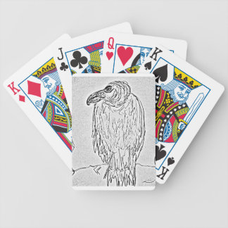 vulture bicycle playing cards