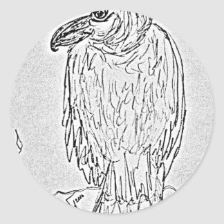 vulture classic round sticker