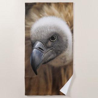 Vulture portrait beach towel