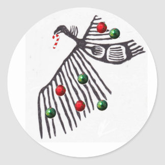 vulture shrine xmas cheer classic round sticker