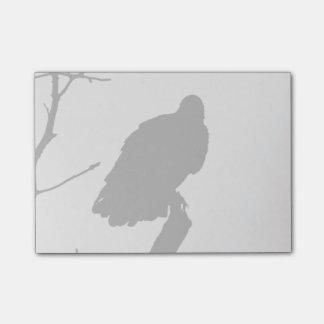 Vulture Silhouette Love Bird Watching Raptors Post-it Notes