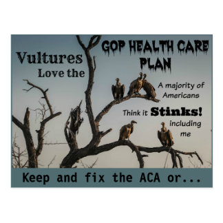 Vultures Anti GOP Health Care Plan Postcard