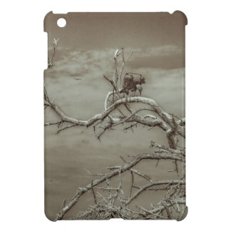 Vultures at Top of Leaveless Tree iPad Mini Cases