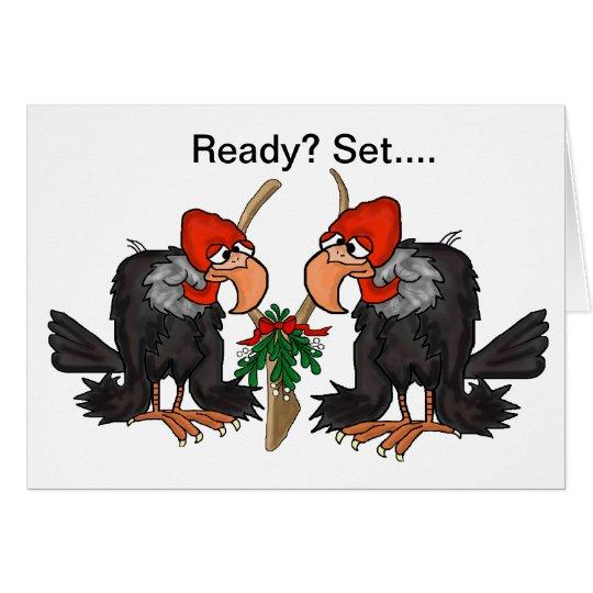 Vultures, Mistltoe & WIshbone Christmas Card