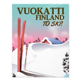 Vuokatti Finland ski poster