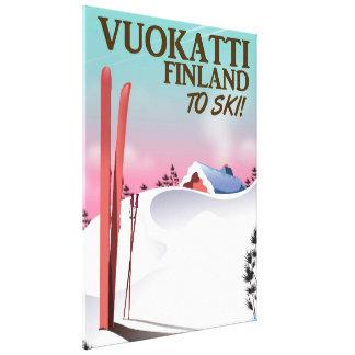 Vuokatti Finland ski poster Canvas Print