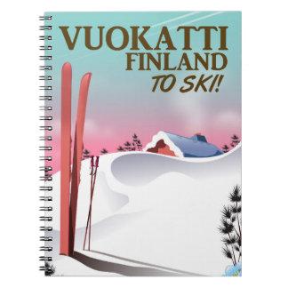 Vuokatti Finland ski poster Note Books