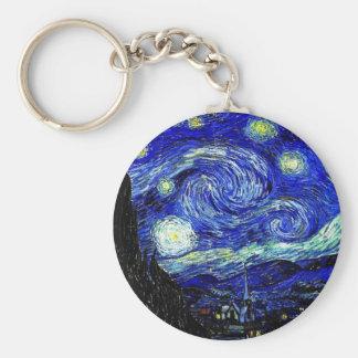 vVan Gogh Starry Night Fine Art Keychain