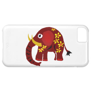 VW- Elephant and Daisies Primitive Art iPhone 5C Case